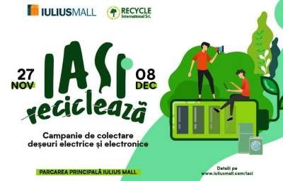 Iași reciclează alături de Iulius Mall și Recycle International